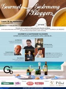 Cartel de la primera edición Gourmets & Gastronomy Bloggers.