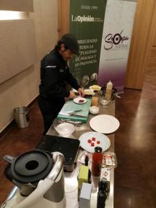 El chef Sergio Garrido en el showcooking del primer encuentro.