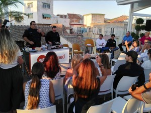 Showcooking del chef Mario Rosado durante el evento. Foto: Sopa de Letras.