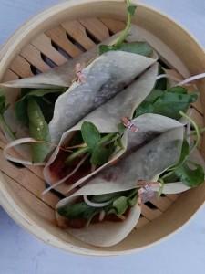 Taco de chili crab al estilo Singapur por el chef Mario Rosado. Foto: Sopa de Letras.